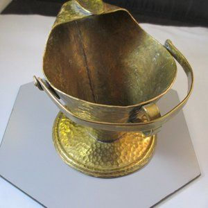 Accents - Vintage Hand hammered Brass Scuttle Ashtray Art
